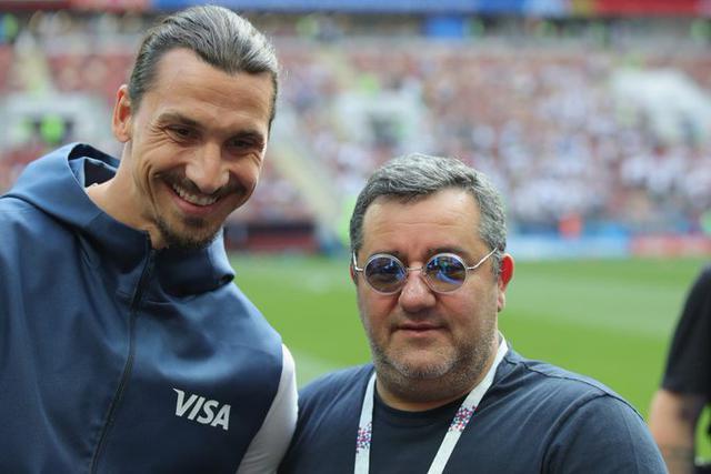Zlatan Ibrahimovic e Mino Raiola (Ph. Twitter)