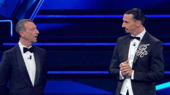 Amadeus e Ibrahimovic al Festival di Sanremo (ph social)