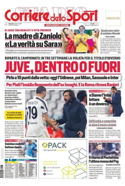 Corriere dello Sport 3 gennaio