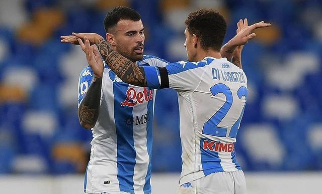 Andrea Petagna esulta in Napoli-Sampdoria 2-1 (Profilo social giocatore)