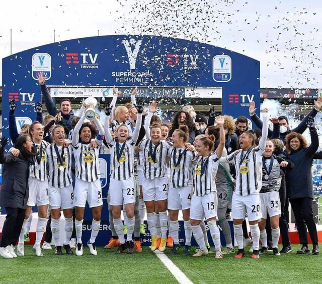 La Juventus Women vince la Supercoppa Italiana (ph social Juventus Women)