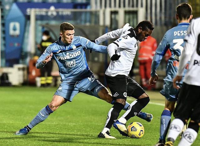 Un'azione di gioco di Spezia-Atalanta 0-0 (Profilo social Spezia)