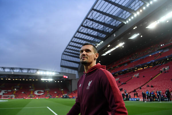 Dejan Lovren all'Anfield di Liverpool (Zimbio)