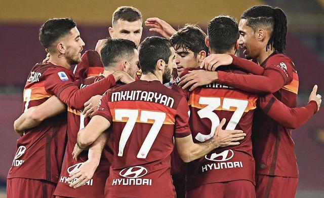 I ragazzi di Fonseca esultano in Roma-Torino 3-1 (Profilo social AS Roma)