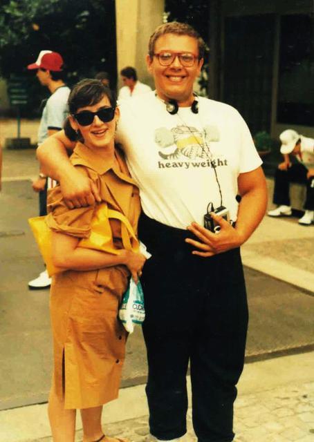 Marco e Paola il giorno del Superbowl di Padova, 2 luglio 1985