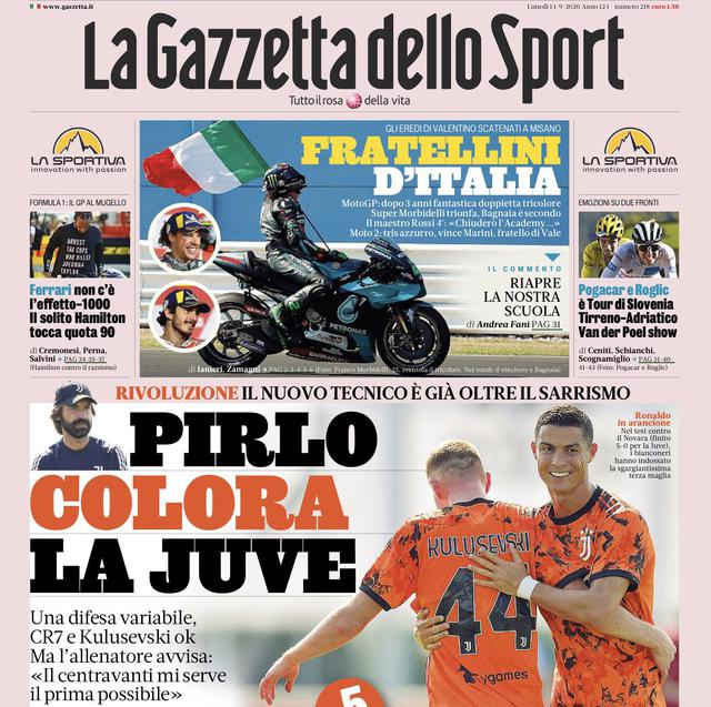 Prima pagina Gazzetta fonte Twitter