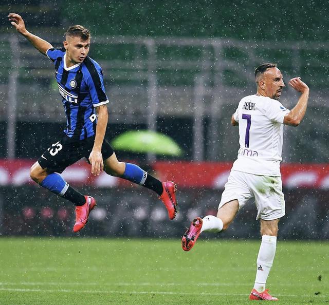 Niccolò Barella e Franck Ribery (ph. Instagram Inter Fc)
