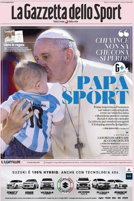 Prima pagina La Gazzetta dello Sport di sabato 2 gennaio