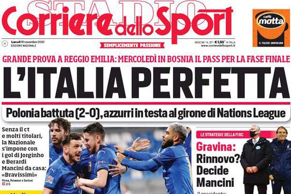Ritaglio prima pagina Il Corriere dello Sport