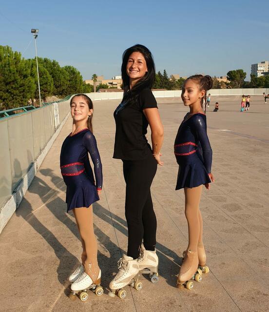 Anna Basile e Sarah Carone con il loro coach Ilaria Di Maglie