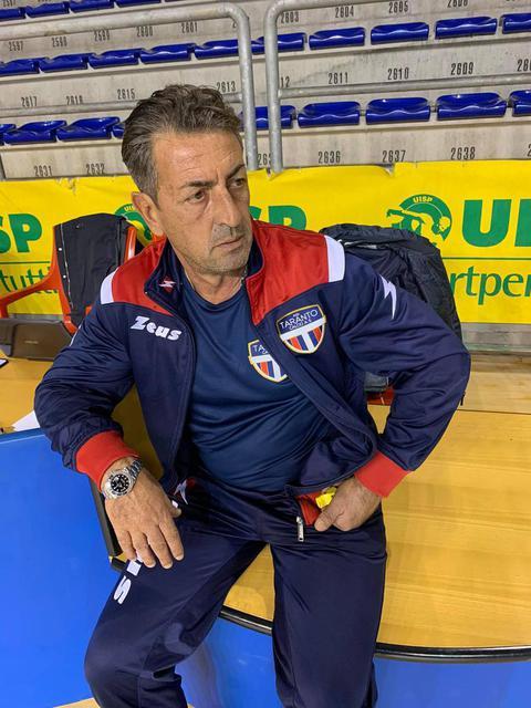 Il coach della New Taranto Angelo Bommino
