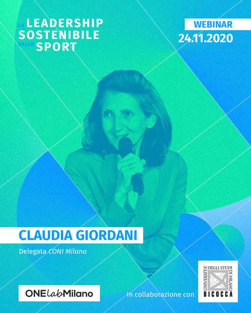 Claudia Giordani - delegata CONI Milano
