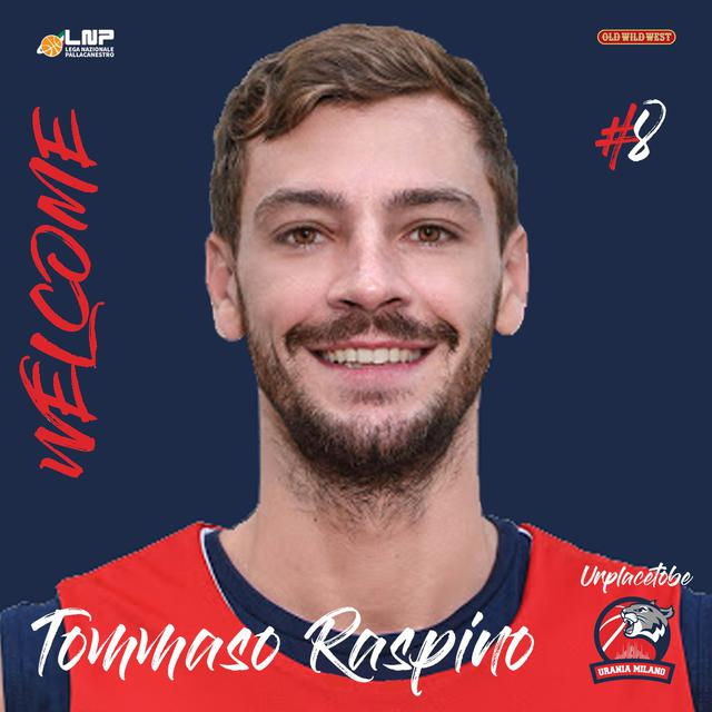 Urania Milano, ecco l'arrivo di Tommaso Raspino