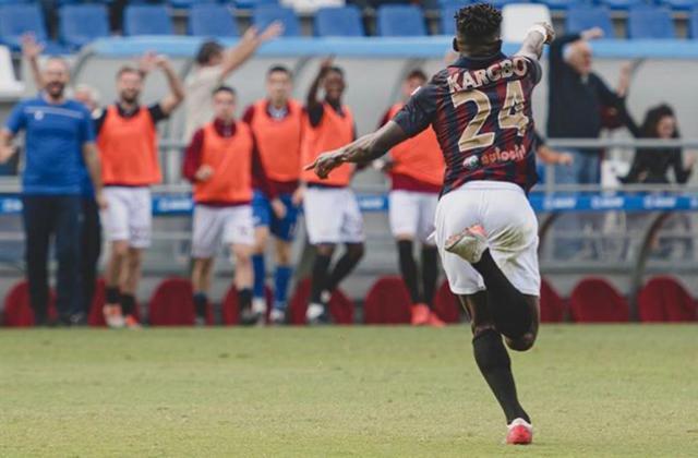L'esultanza di Kargbo © Reggio Audace FC