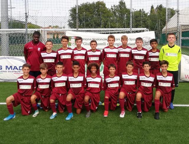 La formazione Under 14 vittoriosa lo scorso weekend a San Marino