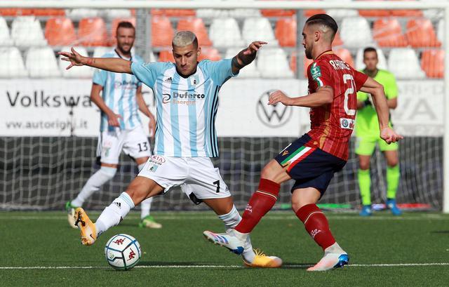 Radrezza contro la Virtus Entella nel match dell'andata © AC Reggiana