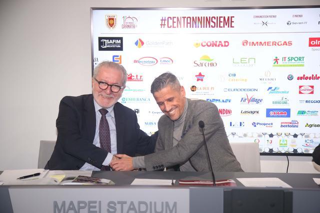 Il presidente di Lega Pro Ghirelli con l'omologo granata Quintavalli