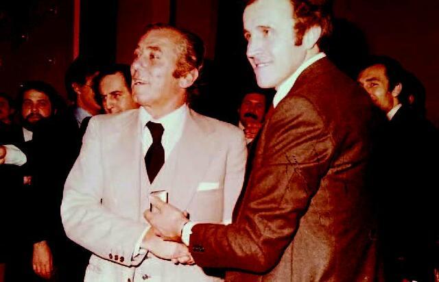 Ercole Spallanzani (a destra) assieme all'allenatore granata Giovan Battista Fabbri