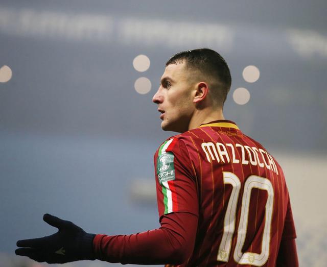 Mazzocchi è fermo a quota 6 gol dallo scorso 15 dicembre © AC Reggiana