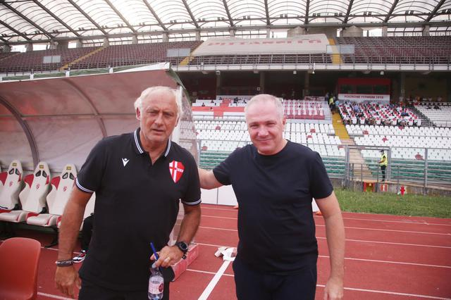 Mister Alvini assieme al tecnico patavino Mandorlini
