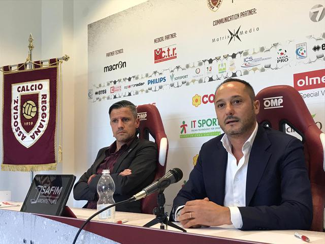 Carmelo Salerno (a destra) assieme al presidente Quintavalli