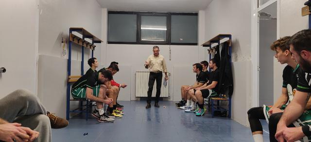 Marco Antonini prima di Casorate Sempione vs Settimo Basket