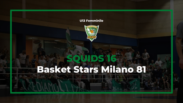 Under13 femminile settimo basket vs milano basket stars