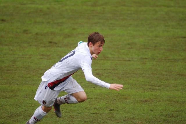 Andrea Mazia, uno dei giocatori più promettenti dell'Under 17 (Foto: Bologna FC)