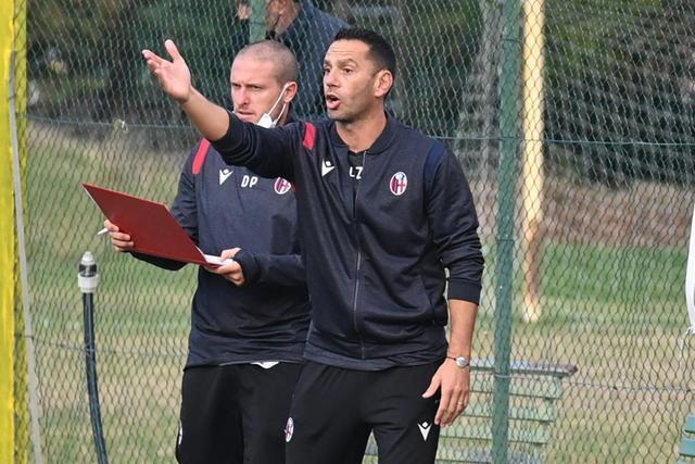 Luciano Zauri e Diego Perez, tecnico in prima e in seconda della Primavera (Foto: Bologna FC)