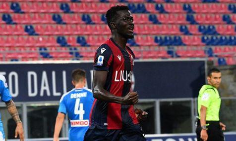 Barrow in gol contro il Napoli