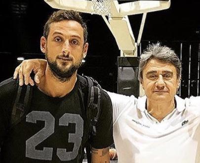 Marco Sanguettoli in compagnia di Marco Belinelli (Social)