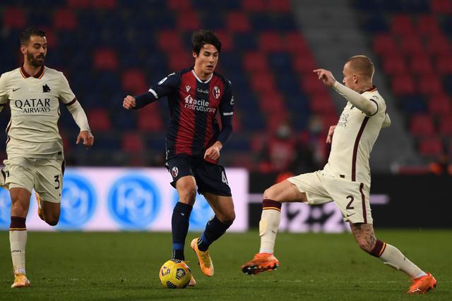 Mattia Pagliuca, qui in occasione del suo esordio contro la Roma, salterà le prossime tre giornate di Primavera 1 per squalifica (Foto: Bologna FC)