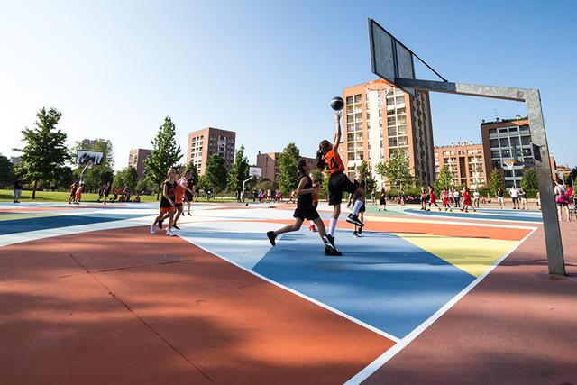 Il playground del quartiere Adriano (Foto di La Città Intorno)
