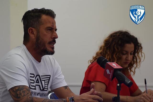 L'allenatore del Brindisi Mauro Chianese