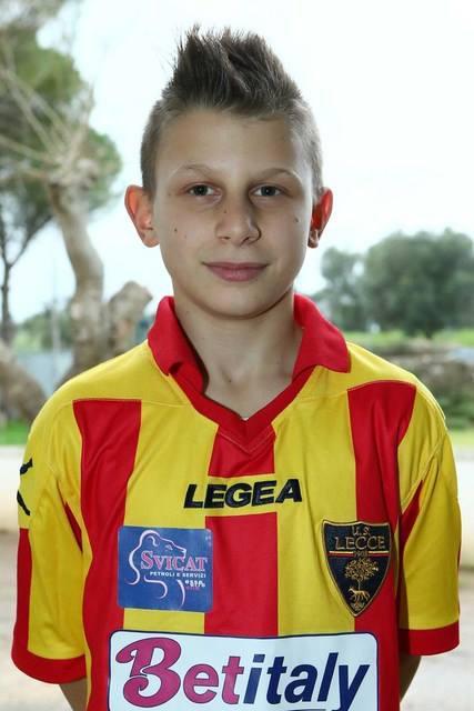 Il piccolo Lorenzo ai tempi del Lecce