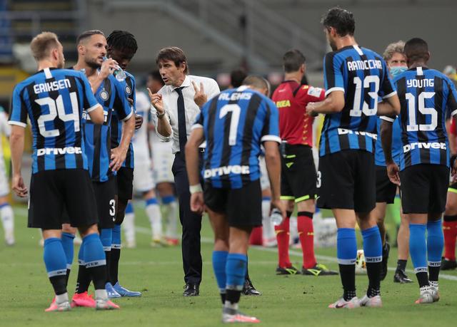 Conte e la squadra neroazzurra, foto: zimbio.com