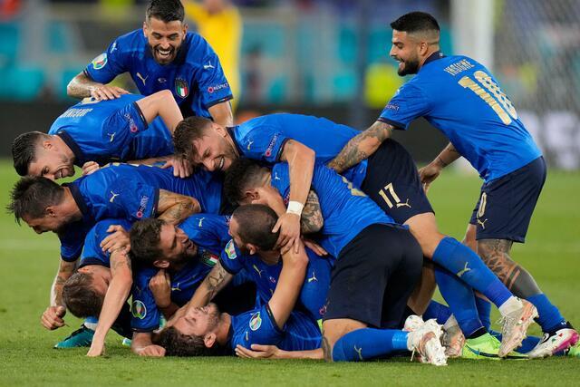 Italia-Svizzera esultanza sul 2-0 (ph. Twitter)