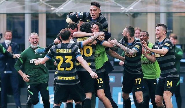 I ragazzi di Antonio Conte esultano al gol di Darmian in Inter-Verona 1-0 (Profilo social Inter)