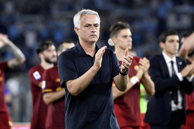 Lazio-Roma: Mourinho continua la polemica (foto Image Sport)