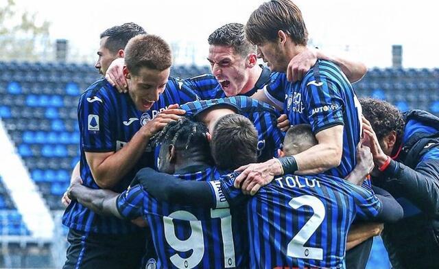 I ragazzi di Gasperini esultano in Atalanta-Juventus 2-1 (Profilo social Atalanta)