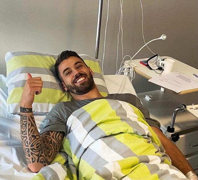 Leonardo Spinazzola in ospedale per l'intervento al tendine di Achille