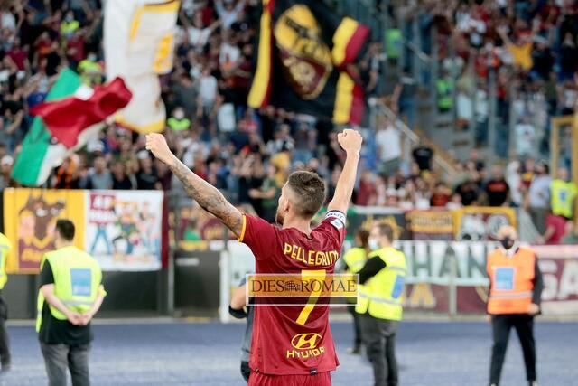 Esultanza Lorenzo Pellegrini (photo Bertea)
